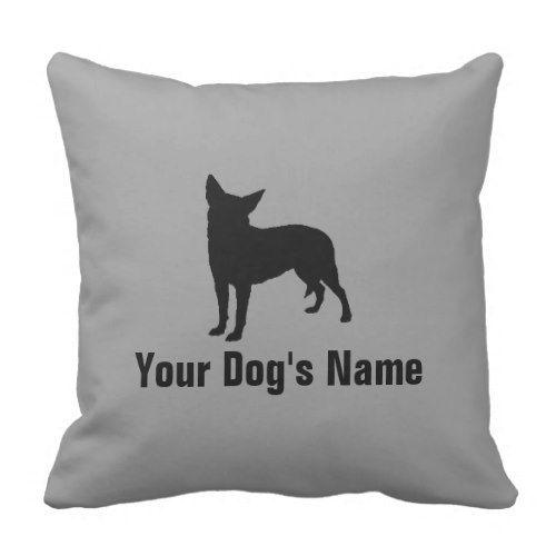 Australian Cattle Dog オーストラリアン・キャトル・ドッグ Throw Pillow