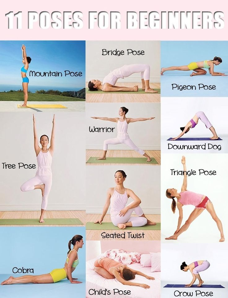 11 Yoga Poses For Beginners! Yoga #Yoga