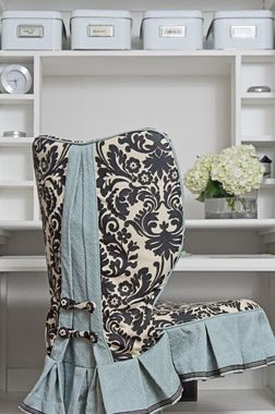 Desk chair slipcovers and makeovers on pinterest chair slipcovers