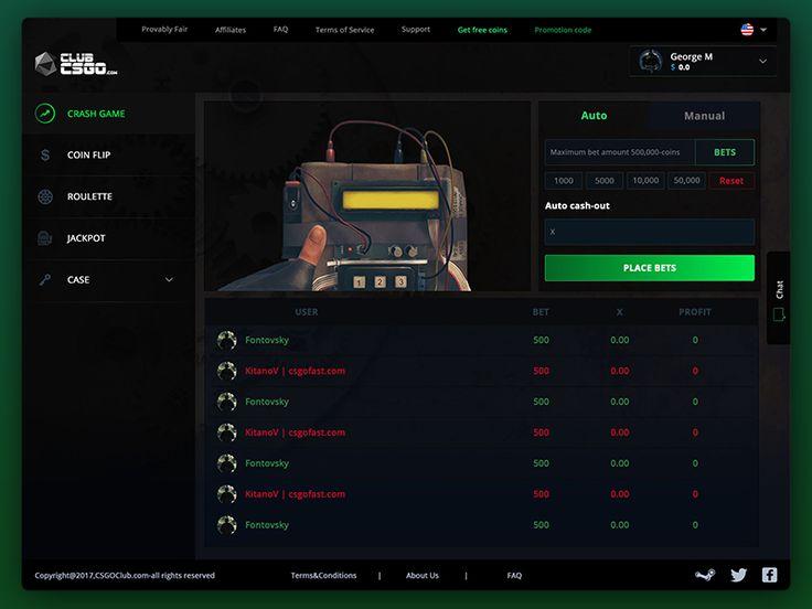 CSGO Crash game web design