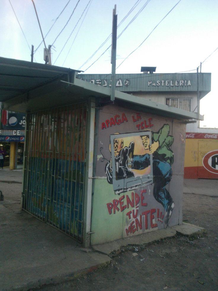 Apaga la Tele, Prende tu Mente en Avenida Central con Pedro Lira, Poblaci´n Valenzuela Llanos, Barrio Chino de Lo Espejo...