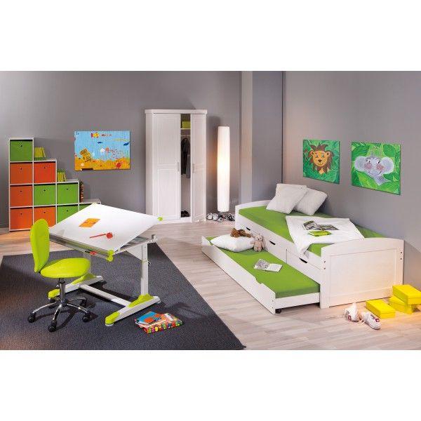 Jugendzimmer mit Bett 90 x 200 cm Woody 148-00377