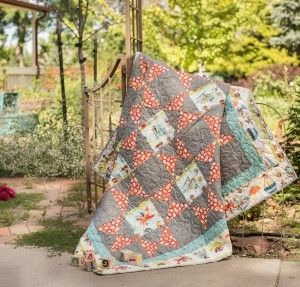 Riley Blake Little Flyers High In The Sky Quilt http://quilting.myfavoritecraft.org/baby-quilt-kits/