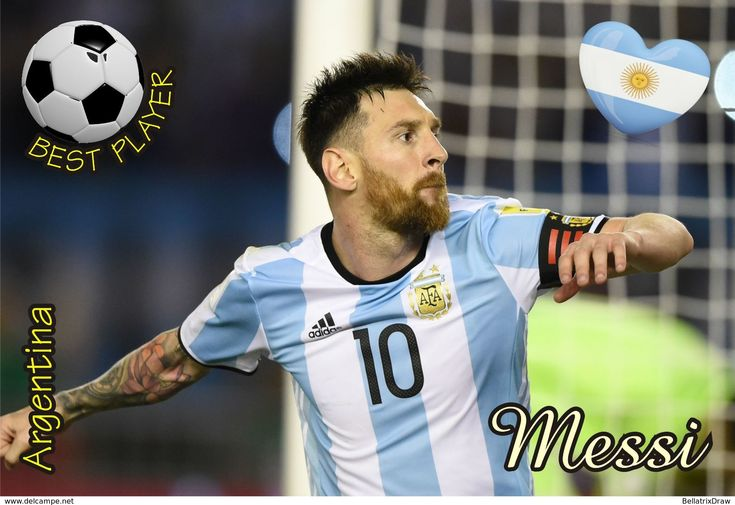 Postcard, REPRODUCTION, Best Player Serie, Messi, Argentina - Football