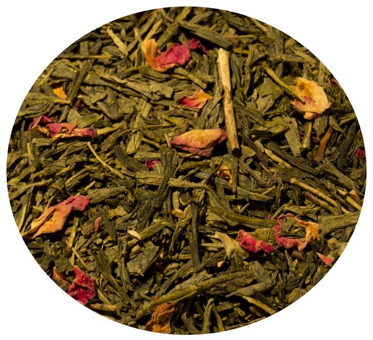 """""""Té Verde Cereza Japonesa"""" Té verde con cerezas y flor de cerezo. 7€ / 100gr."""