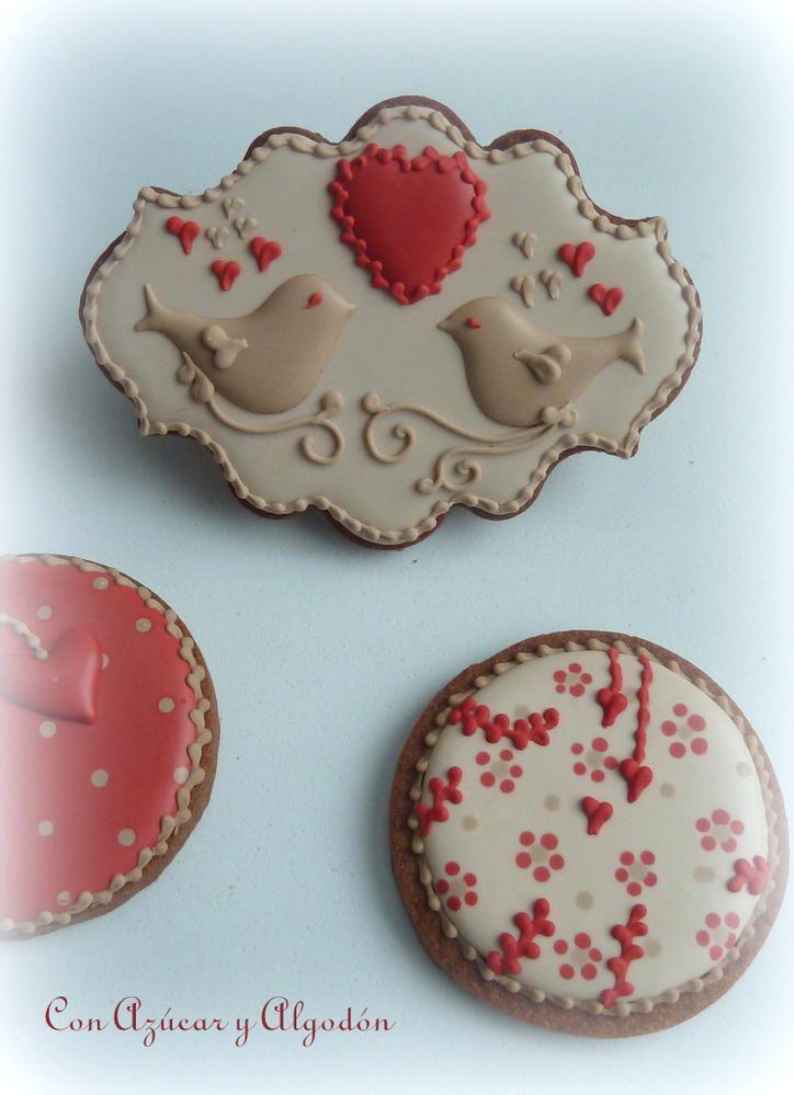 Valentine´s Cookies http://conazucaryalgodon.wordpress.com/