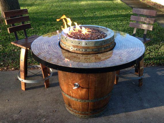 Wine Barrel Fire Pit Outdoor Ideas Wine Barrel Fire Pit Barrel Fire Pit Fire Pit Table