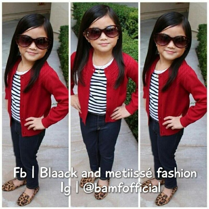 Kids fashion. Super cute with a red think pink headband! not the sunglasses