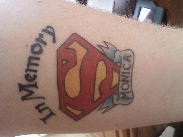 Superman tattoo by jewskerz (Flickr)