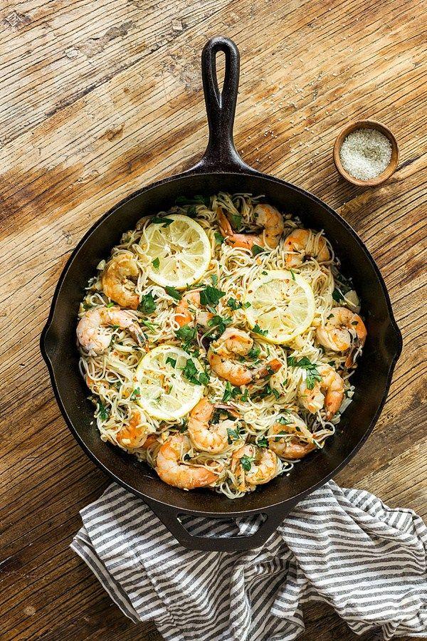 Classic shrimp scampi recipe via Waiting on Martha