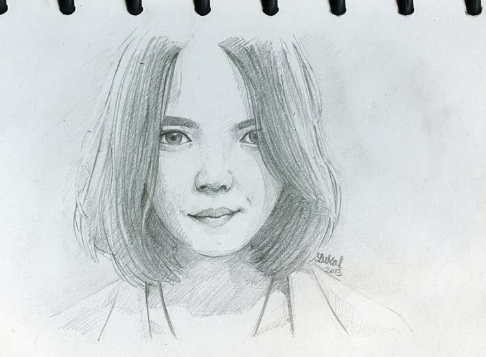 sketch pencil -nadya fatira-