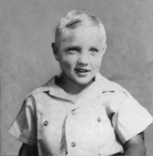 """Elvis around age 6 - good lord he already has """"the sneer""""!"""