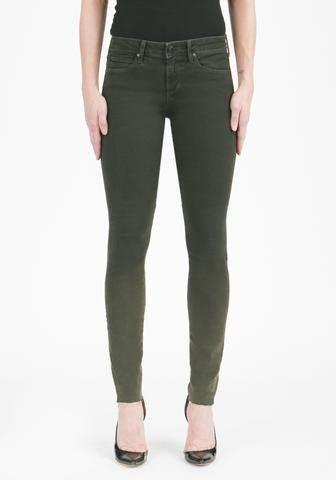 Mya Dark Olive Skinny Jean