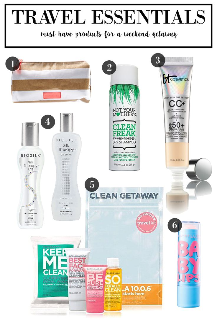 6 Must Have Travel Essentials for your weekend getaway!