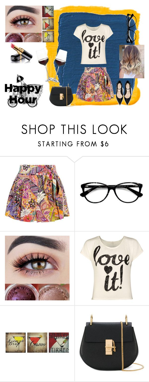 """""""happy hour"""" by emily-dickson-1 ❤ liked on Polyvore featuring Benjamin Moore, Etro, Chanel, Ace, WearAll, Ink & Ivy, Chloé and Crate and Barrel"""