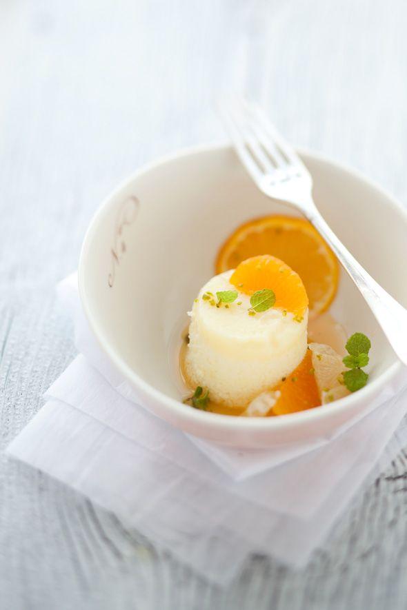 lemon and quinoa pudding cakes
