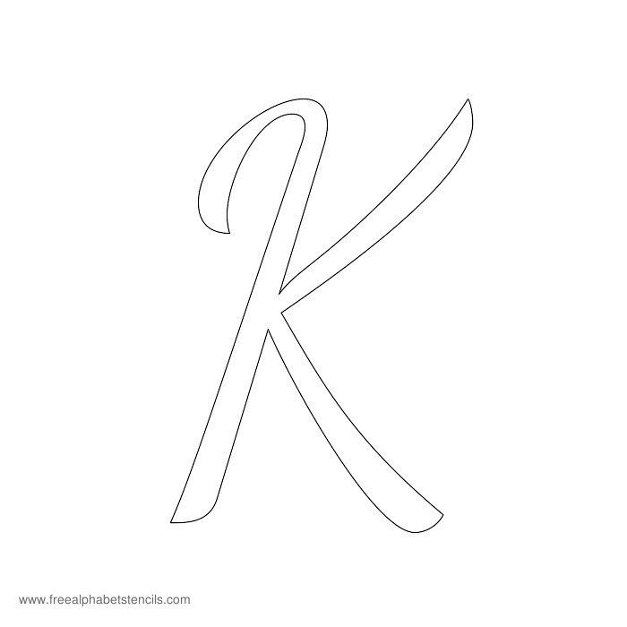 how to make a capital k in cursive