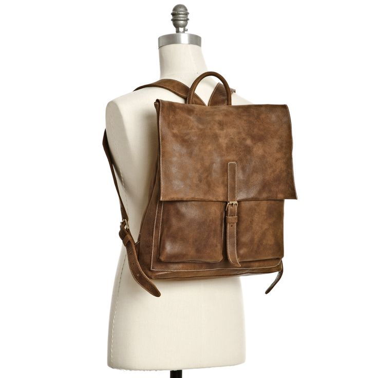 Raiders Pack Vintage Tribe Leather   Men's Backpacks and Bags   Roots