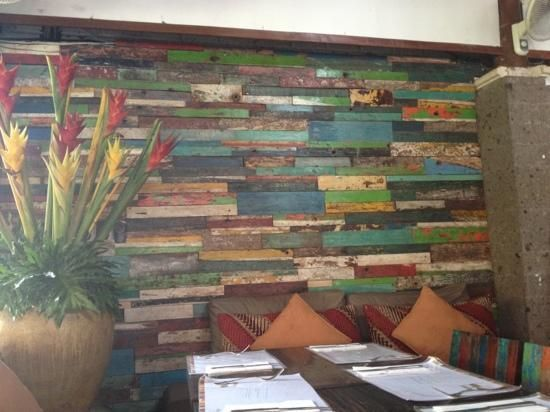 Mozzarella Restaurant And Bar: The Reclaimed Wood Wall Panel