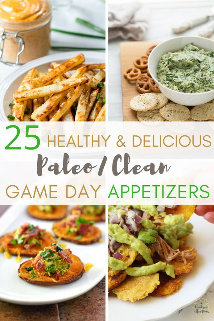 Who's ready for some football?!?  You can have the fun, the screaming and the friends, but why not enjoy it with healthy snacks?  Here are 25 Healthy and Delicious Paleo / Clean Game Day Appetizers for you today!