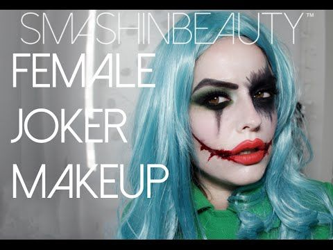 Tip! Mix white clown makeup with foundation - SUICIDE SQUAD: Sexy Female Joker Halloween Makeup Tutorial 2015 - YouTube