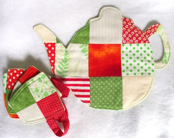 How-To: Quilted Teapot Trivet with Teacup Coasters
