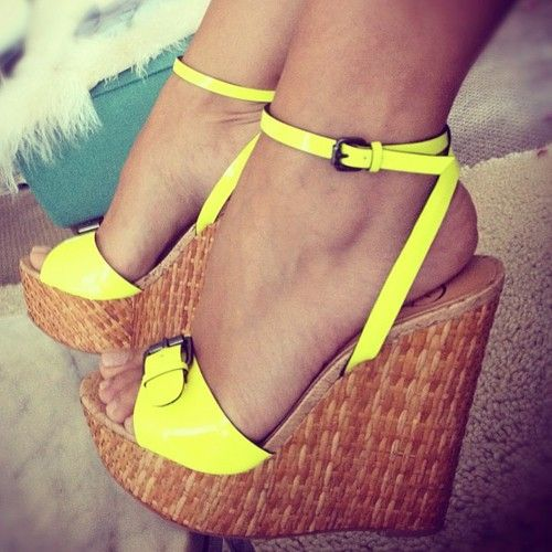 Is it summer yet?  I love these neon Penny Loves Kenny wedges...