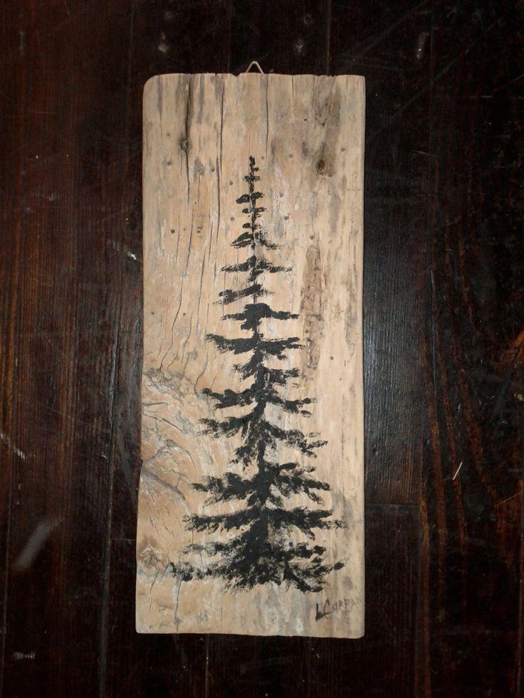 Reclaimed Barn Wood Art Wall Hanging by Linda Curran.