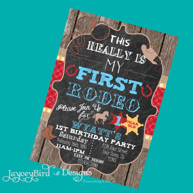 invitation words forst birthday party%0A Cowboy Birthday Invitation Personalized This Aint My First Rodeo Boy Twins Birthday  Invitation by JayceyBirdDesigns on