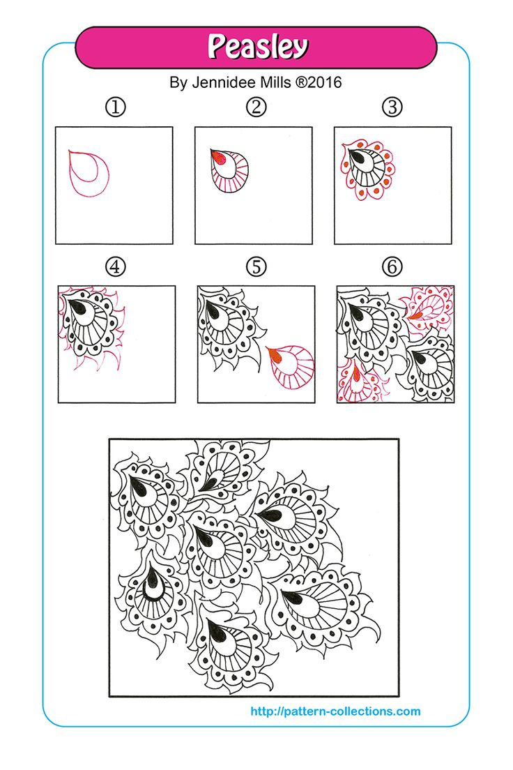 Peasley  tangle pattern Jennidee Mills  PatternCollections.com
