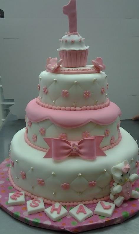 Hello Kitty cake. My nieces would love this :)