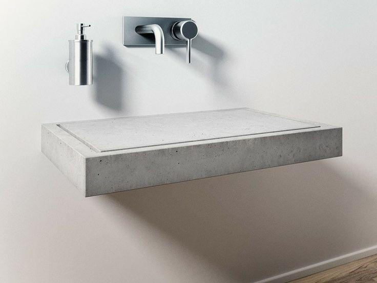 Die besten 10 betonwaschtisch ideen auf pinterest holzschubladen badezimmerlicht und rahmen - Badkamer beton wax ...