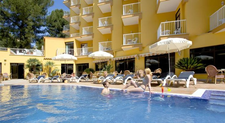 Hotel Morlans Paguera This hotel is located in a quiet residential area, only 300 metres from the beautiful beaches at Peguera, on the island of Majorca.  Relax around the pool and in the gardens surrounding the hotel.
