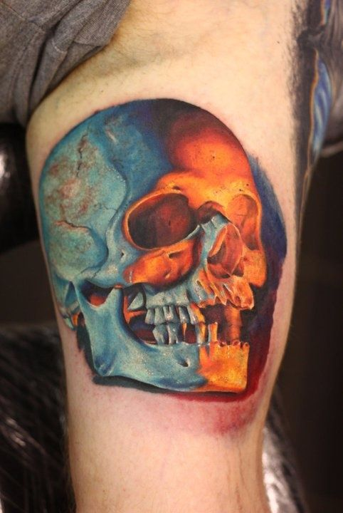 25 best ideas about skull face tattoo on pinterest for Best realism tattoo artist near me