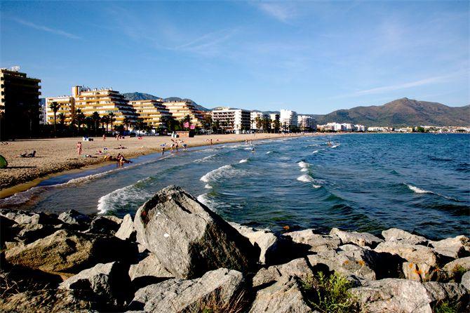 Playa de Santa Margarita, Rosas - Costa Brava (Espagne)