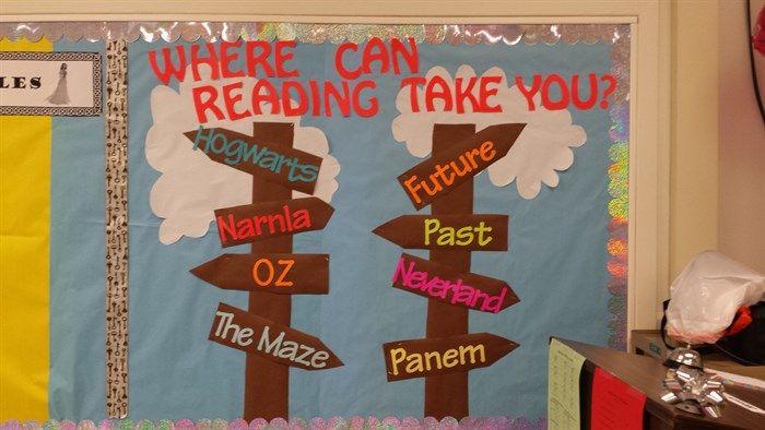 """Where Can Reading Take You?"" Bulletin Board Idea"