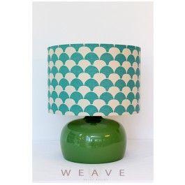 BIRD GLASS TABLE LAMP – GREEN