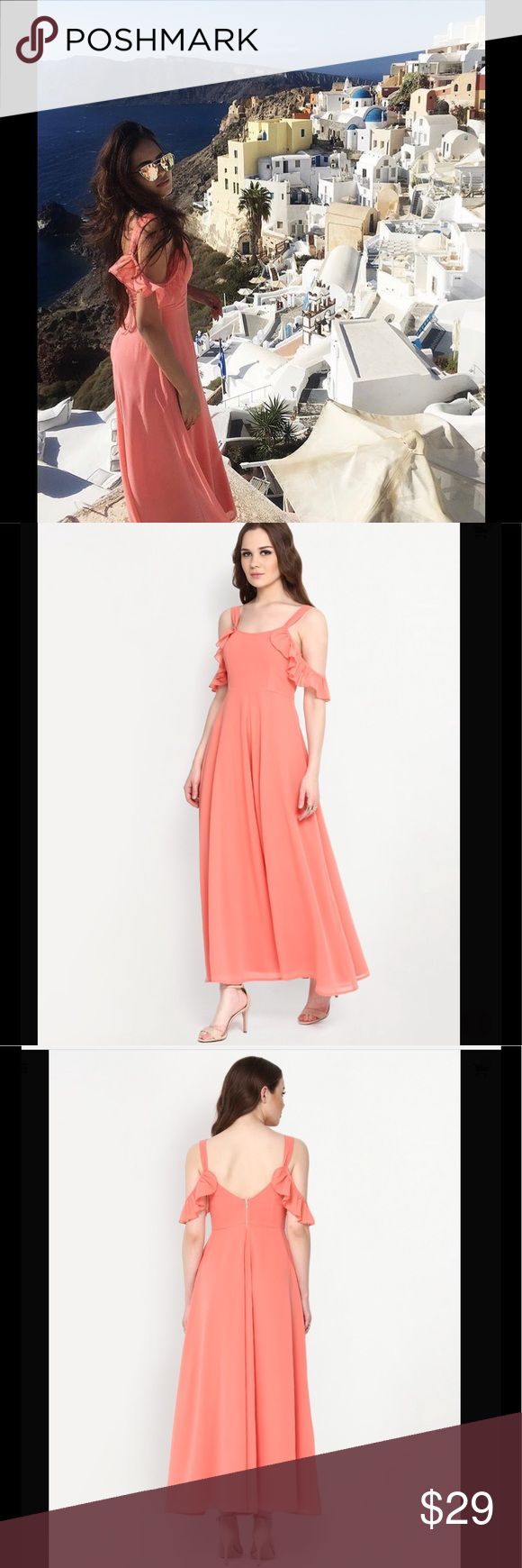 NEW Beautiful coral maxi : UK 8 Pretty peach/coral maxi, perfect for holidays or weddings! NEW & UNWORN. Size : UK 8 Dresses Maxi