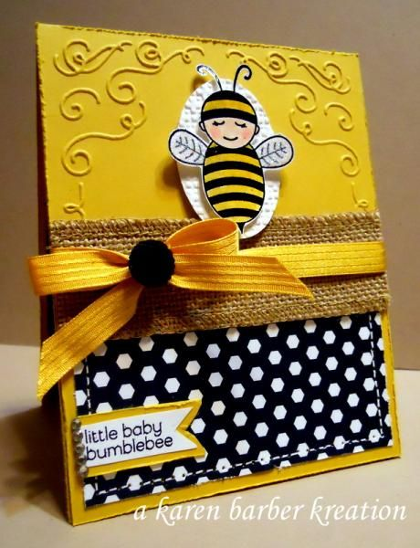 BABY BUMBLEBEE - Stampin' Up! Baby Card