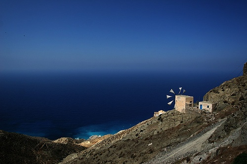 Windmill on Karpathos (Greece). Visited in 1994 and 2013