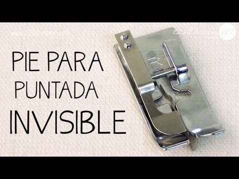 Pie para puntada invisible