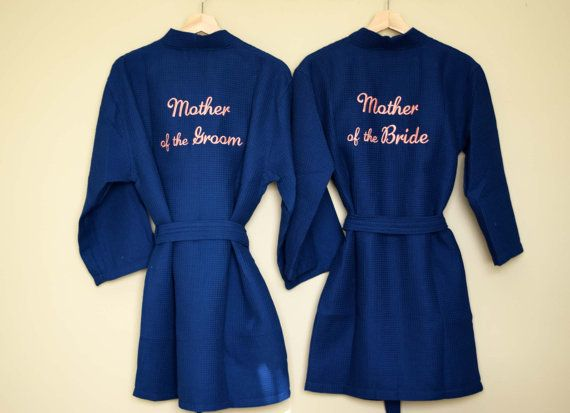 SET OF 2, Mother of the Bride robe, Mother of the Groom robe, Mother of the Bride gift, Mother of the Groom gift, Wedding robes