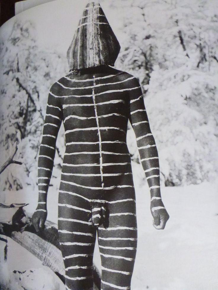 Martín Gusinde. Selk'nam Ona Man, Patagonia. 1923.