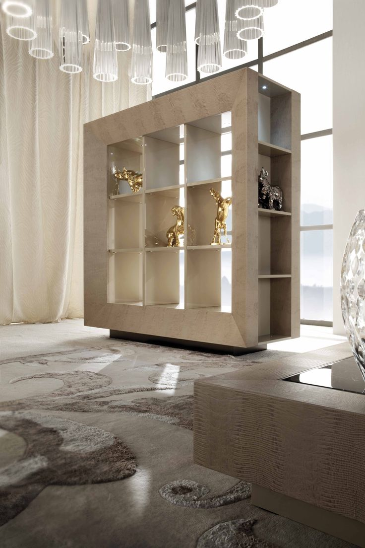 Stunning Lifetime Display Cabinet 100% made in Italy with Armadillo stamped leather and MURANO GLASS elements www.sovereigninteriors.com.au