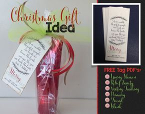 FREE Christmas Gift Tag can be used for Young Women's, Relief Society, Visiting Teaching, Primary, Friend or just use the blank one.