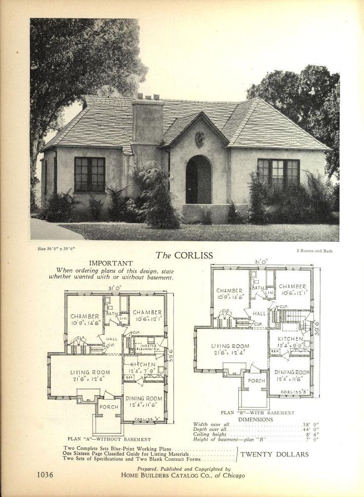 The CORLISS Home Builders Catalog plans