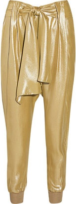 ShopStyle: By Malene Birger Ellua metallic silk harem pants