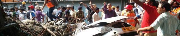 Kolkata, India flyover collapse: At least 20 dead.