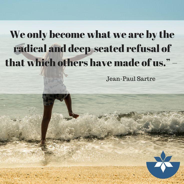 #nourishednow #selfacceptance #selflove #acceptance #quotes #inspiration #inspirationalquotes #JeanPaulSartres