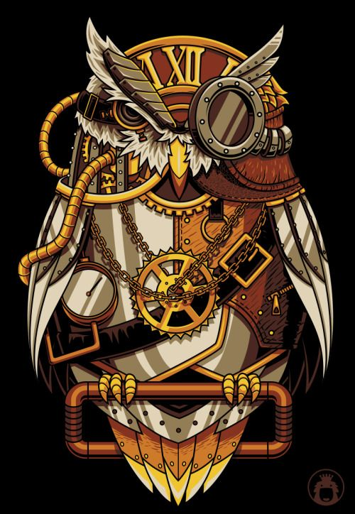 Steam Punk Owl (by Angga Tantama)  DESIGN STORY: |Tumblr |...